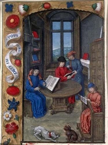 Jean Fouquet, Flavius Josèphe écrivant Les Antiquités judaïques, Paris, BnF